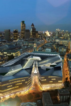 One New Change, Major office and retail development designed by Jean Nouvel